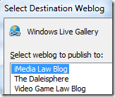 Windows Live Writer - Multiblog support
