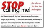 stop calling me - Canadian National Do Not Call LIst