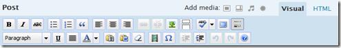 Wordpress 2.5 Editor Toolbar
