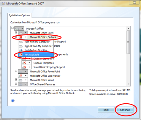 customize which microsoft office programs are installed