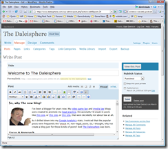 Daleisphere WordPress 2.5 Editor