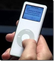 scrubbing with scroll wheel on an iPod nano