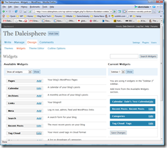 Daleisphere WordPress 2.5 Widgets