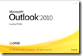 outlook 2010 splash screen