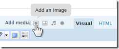 WordPress 2.5 'Add an Image' icon
