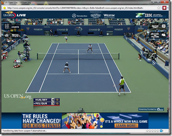 u.s. open tennis via hotspot shield