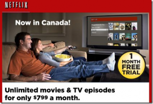 Netflix Launches in Canada–With the Cupboards Bare