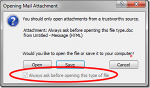 How to Get Rid of the Annoying Warning Message When Opening Attachments in Outlook 2010