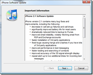 iPhone 2.1 Software Update