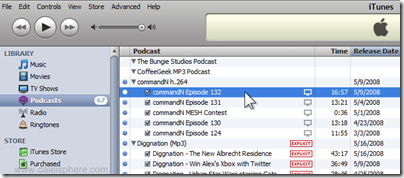 iTunes - commandN video podcast
