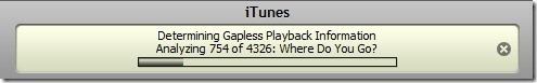iTunes - determining gapless playback information