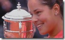 Ivanovitch Holds 2008 French Open Trophy