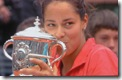 Ivanovitch Kisses 2008 French Open Trophy