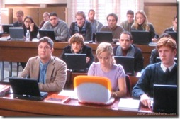 Legally Blonde (2001) - Reese Whitherspoon Sticks Out with her Orange Apple Laptop