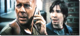 live free or die hard (2007) - bruce willis and justin long