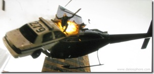 live free or die hard (2007) police car crashes into helicopter