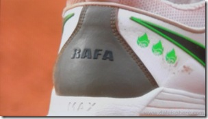 rafael nadal's 'RAFA' shoe - French Open 2008