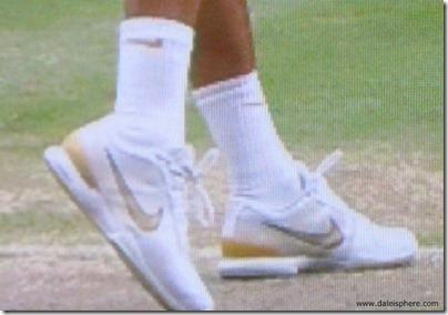 roger federer designer tennis shoes - wimbledon 2009