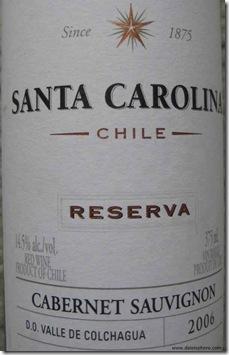 Santa Carolina Cabernet Sauvignon Reserva 2006 – 375 ml - front label