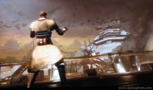 Star Wars - Force Unleashed - pulling the star destroyer out of the sky