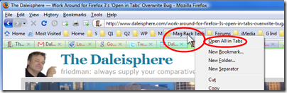 Work Around for Firefox 3's 'Open in Tabs' Overwrite Bug
