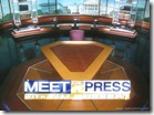 Tim Russer's empty table at Meet the Press