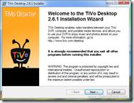 TiVo Desktop 2.6.1 Setup Wizard