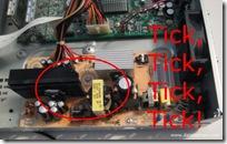 TiVo Series 3 Power Supply Failure - Tick, Tick, Tick