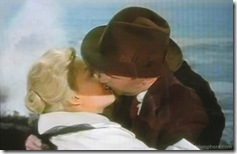 Vertigo (1958) - Jimmy Stewart and Kim Novak kiss at Cypress Park