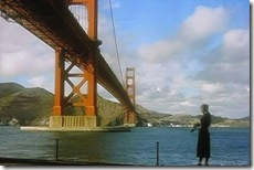 Vertigo (1958) - Kim Novak about to Jump at Fort Point under Golden Gate Bridge