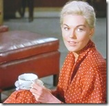Vertigo (1958) - Kim Novak drinks a cup of coffee