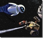 wall-e and eve in space