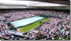 wimbledon 2009 - closing centre court roof - first time 1 - pulling tarp over court