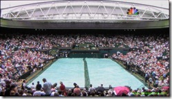wimbledon 2009 - closing centre court roof - first time 2 - tarp across and ready to close the roof