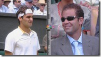 wimbledon 2009 - sampras watches federer and roddick in final
