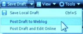 Windows LIve Writer - Post Draft to Weblog