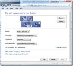 Windows 7 Beta - Chante the appearance of your displays screen