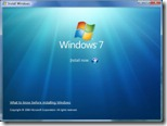 Windows 7 Beta - Start screen