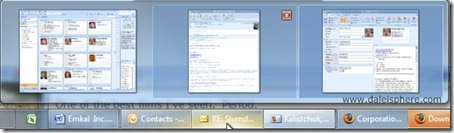 Windows 7 Beta - taskbar button previews