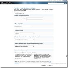 windows 7 beta test-drive download screen