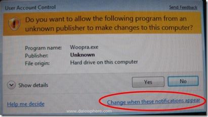 Windows 7 Beta - UAC screen