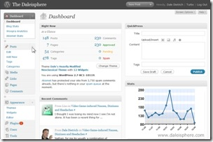 wordpress 2.7 - dashboard