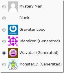 wordpress 2.7 - default gravatars